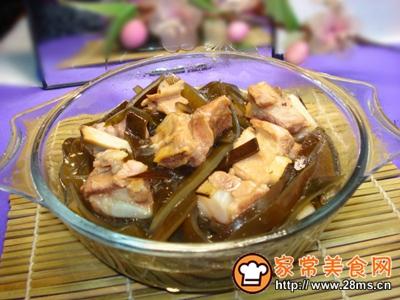 海带丝排骨汤