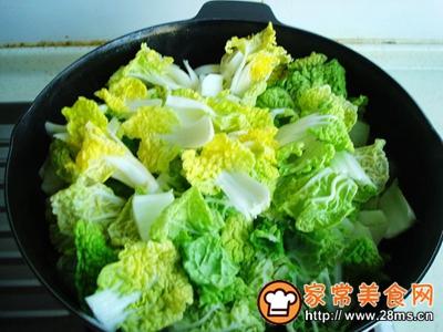 黄心菜炖血块