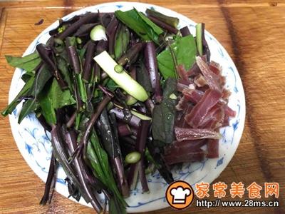紫菜苔炒咸肉丝