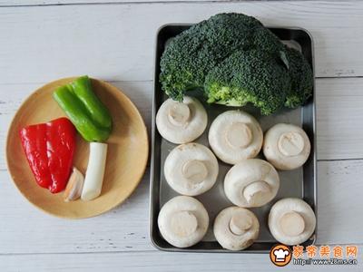 西兰花炒口蘑