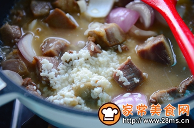 做正宗米酒菌菇炖牛腩的图片步骤10