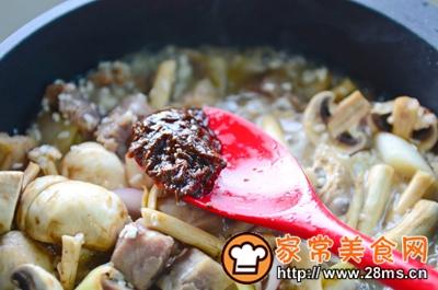 做正宗米酒菌菇炖牛腩的图片步骤13