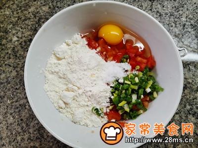 做正宗西红柿香葱鸡蛋饼的图片步骤3