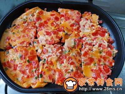 做正宗西红柿香葱鸡蛋饼的图片步骤7