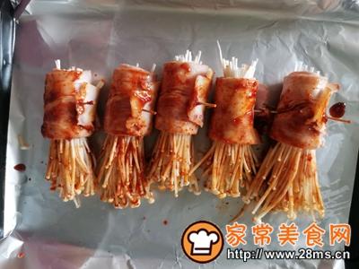 做正宗非常简单的烤培根金针菇的图片步骤4