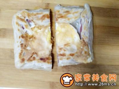 做正宗美味火腿鸡蛋饼的图片步骤6