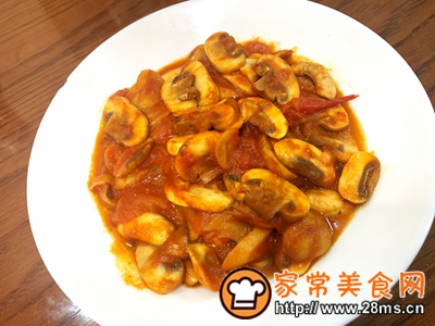 做正宗番茄炒蘑菇的图片步骤7
