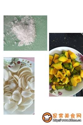 做正宗冰糖百合蒸南瓜的图片步骤2