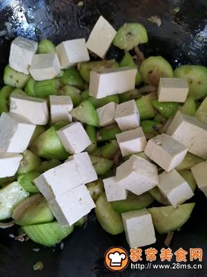 做正宗丝瓜炖豆腐的图片步骤5