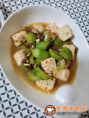 做正宗丝瓜炖豆腐的图片步骤6