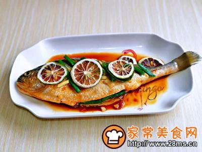 做正宗柠香蒸黄鱼的图片步骤8