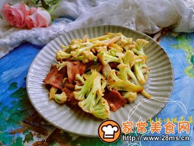 做正宗干锅花菜培根的图片步骤5