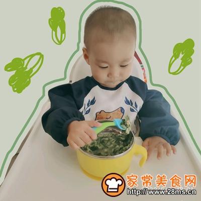 做正宗宝宝辅食:虾仁菠菜挤挤面的图片步骤7