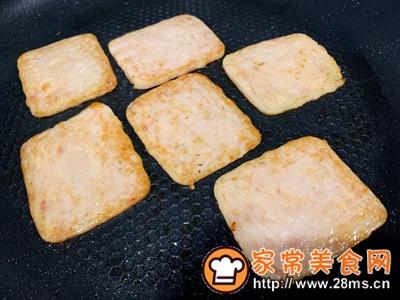 做正宗超快手早餐:肉松午餐肉玉米粒三明治的图片步骤2