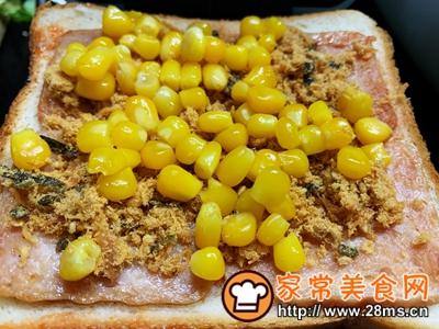 做正宗超快手早餐:肉松午餐肉玉米粒三明治的图片步骤8