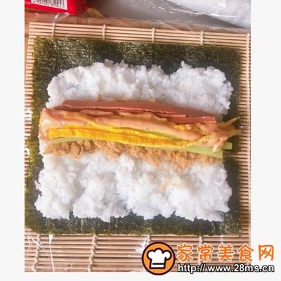 做正宗好好吃的肉松寿司卷的图片步骤10