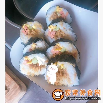 做正宗好好吃的肉松寿司卷的图片步骤13