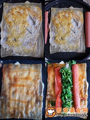 做正宗东北特色小吃:电饼铛烤冷面的图片步骤4