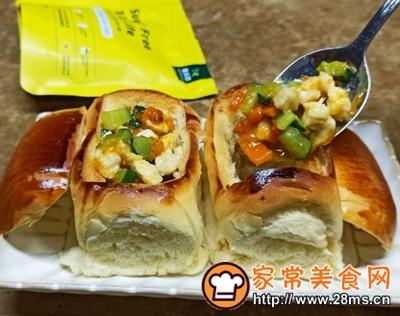 做正宗鸡胸肉蔬菜面包盅的图片步骤10