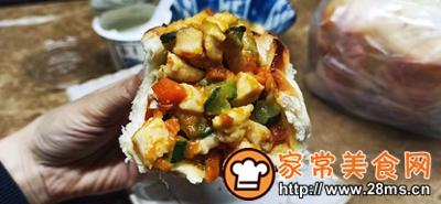 做正宗鸡胸肉蔬菜面包盅的图片步骤12