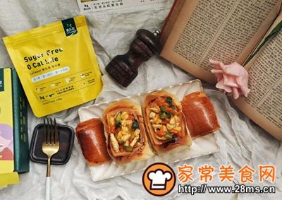 做正宗鸡胸肉蔬菜面包盅的图片步骤13