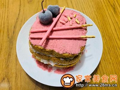 做正宗樱花荔枝酸奶蛋糕的图片步骤6
