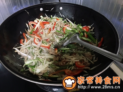 做正宗超级下饭菜子姜肉丝的图片步骤7