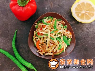 做正宗超级下饭菜子姜肉丝的图片步骤8