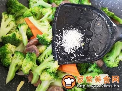 做正宗西蓝花炒牛肉丸子的图片步骤13