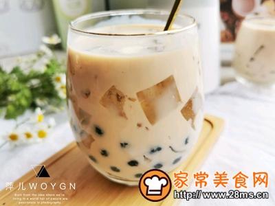 做正宗自制清凉爽滑的珍珠茶冻撞奶的图片步骤14