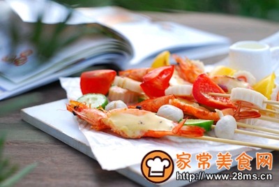 做正宗五彩缤纷时蔬海鲜拼盘的图片步骤1