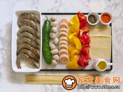 做正宗五彩缤纷时蔬海鲜拼盘的图片步骤2