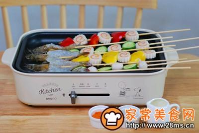 做正宗五彩缤纷时蔬海鲜拼盘的图片步骤4