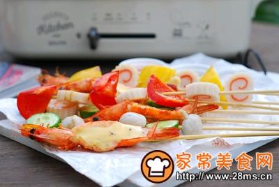 做正宗五彩缤纷时蔬海鲜拼盘的图片步骤6