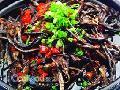 茶菇铁板鳝丝