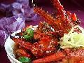 香辣蟹腿配米饭