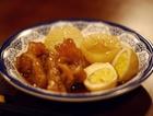 萝卜炖牛筋加蛋