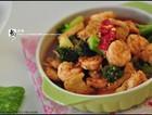 西兰花虾球煲豆腐