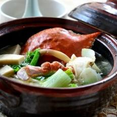 螃蟹白菜炖豆腐
