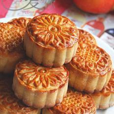 椰奶核桃香妃月饼