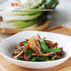 豉香青蒜炒猪耳