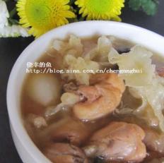 银耳百合田鸡汤