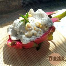 火龙果玉米沙拉