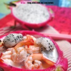 酸奶果律虾