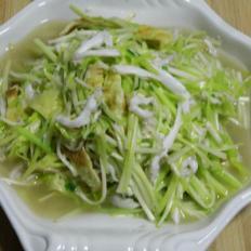 银鱼炒韭黄