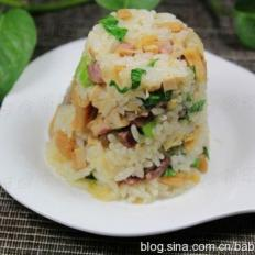 干贝咸肉焖菜饭