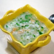 干贝菠菜粥
