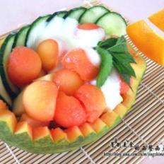 香甜木瓜沙拉船