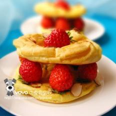 草莓法式布列斯特环