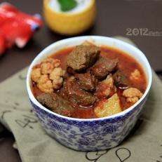 茄汁焖牛肉